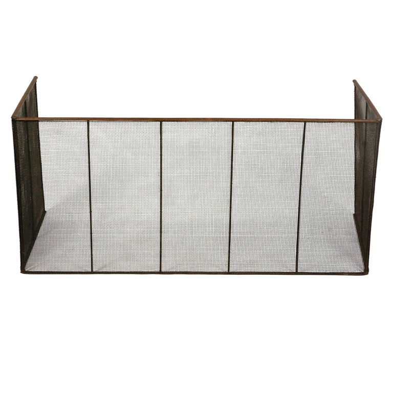 Antique Folding Fire Screen From A Unique Collection Of