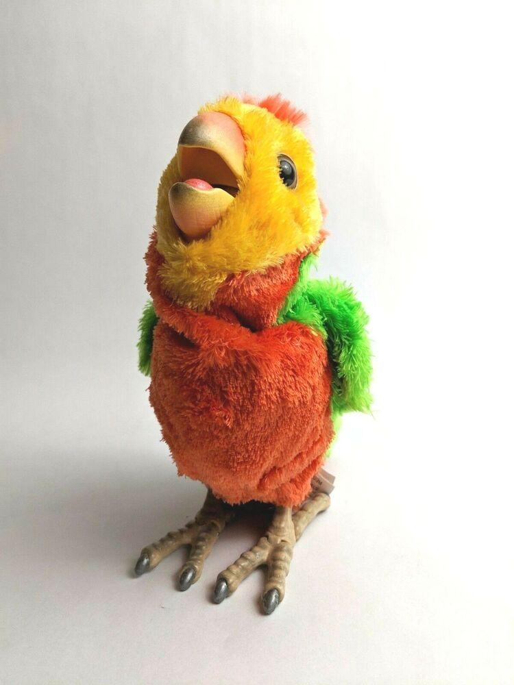 Furreal Friends Parrot Baby Interactive Pet Orange Green Yellow Bird Furrealfriends Fur Real Friends Parrot Bird