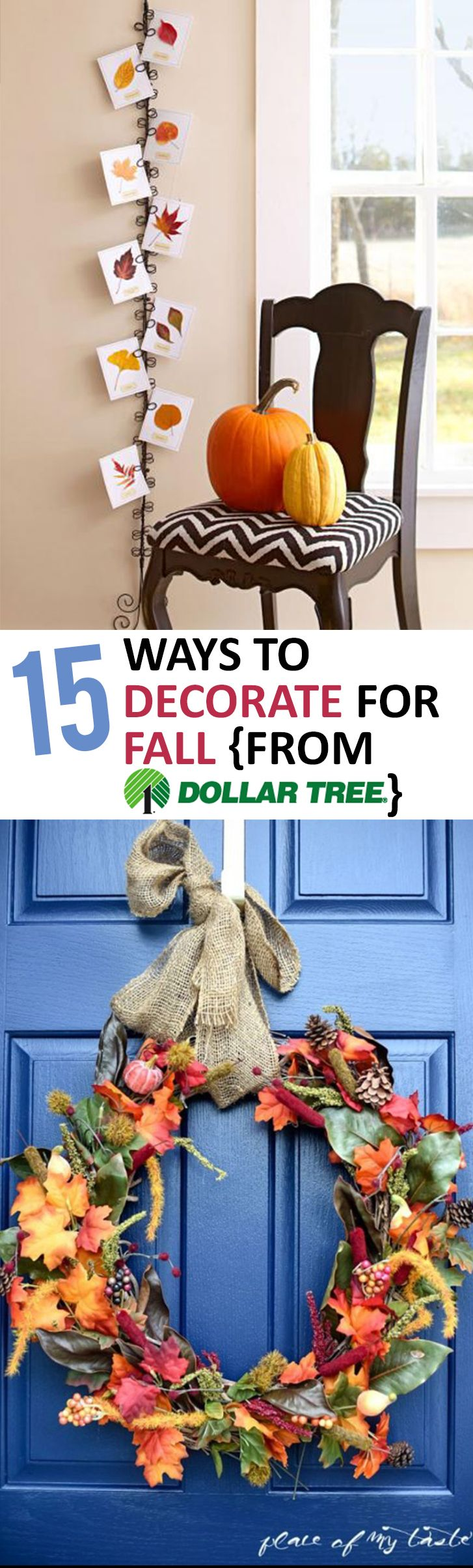 15 Ways to Decorate for Fall {From Dollar Tree