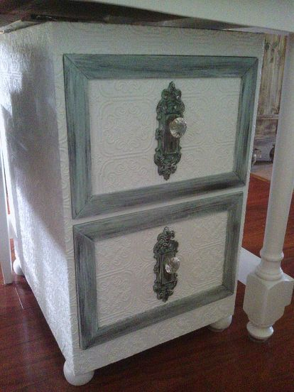 Maison Decor Tin Ceilings: Old Metal Filing Cabinet