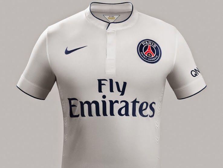 nike psg Exterieur equipement de maillot de foot pas cher 2014-2015 blanc  Fly Emirates 9e2b340c1