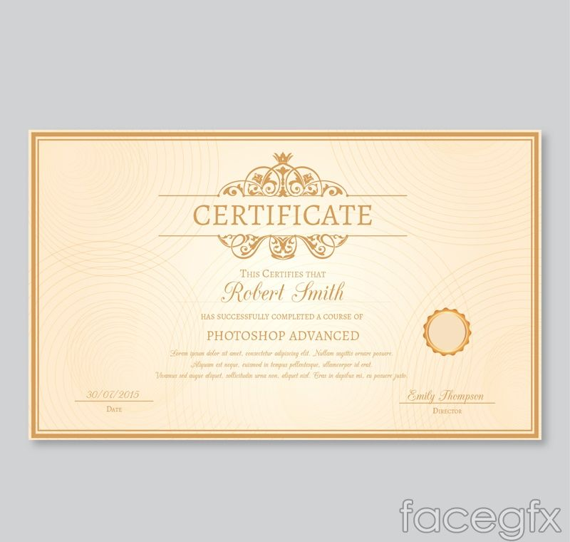 Sophisticated certificate design vector Free Vectors Pinterest - new certificate vector free