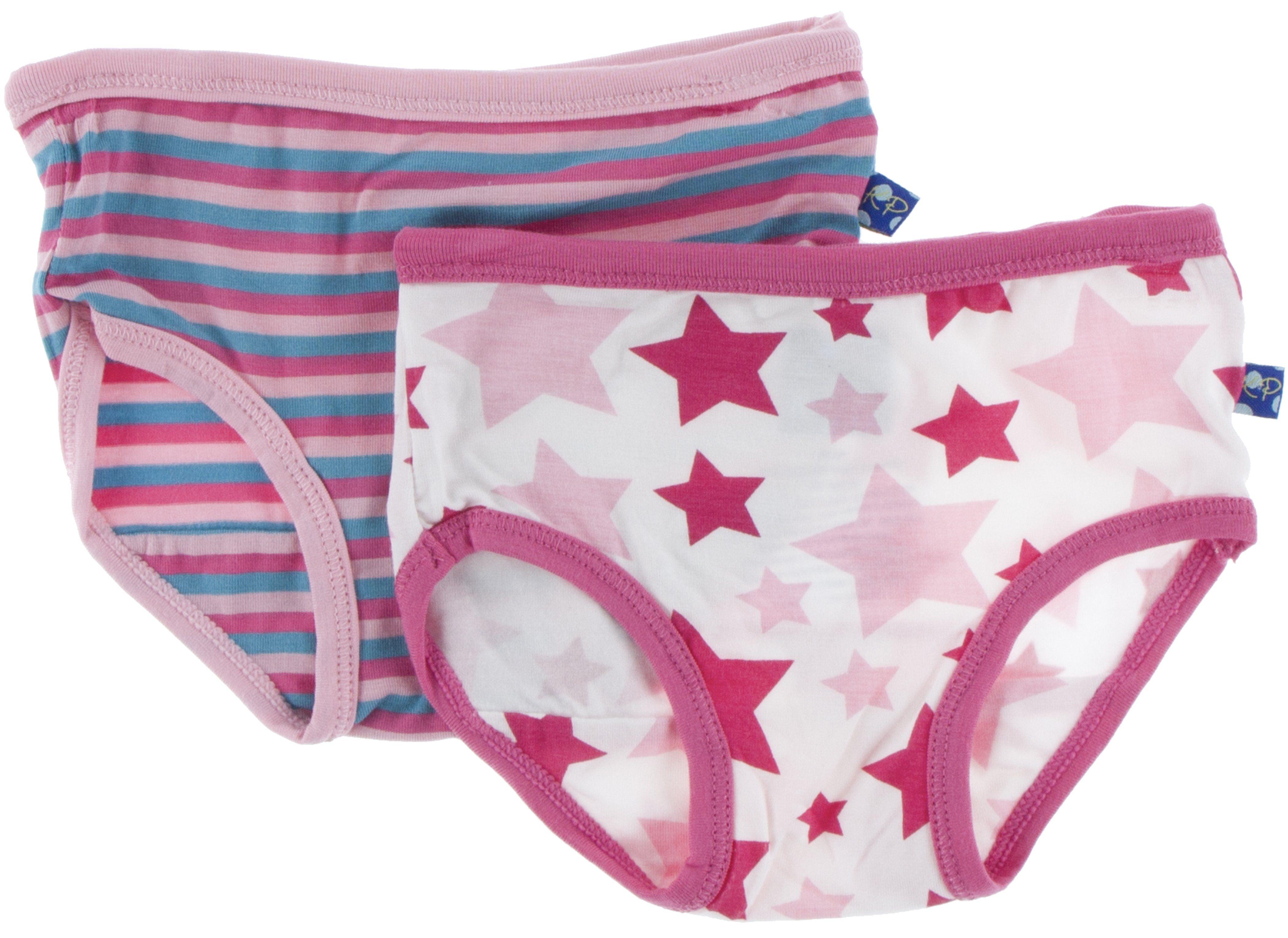58ead72d7120 KicKee Pants Flamingo Anniversary Stripe & Flamingo Star Underwear  Set-PRESALE