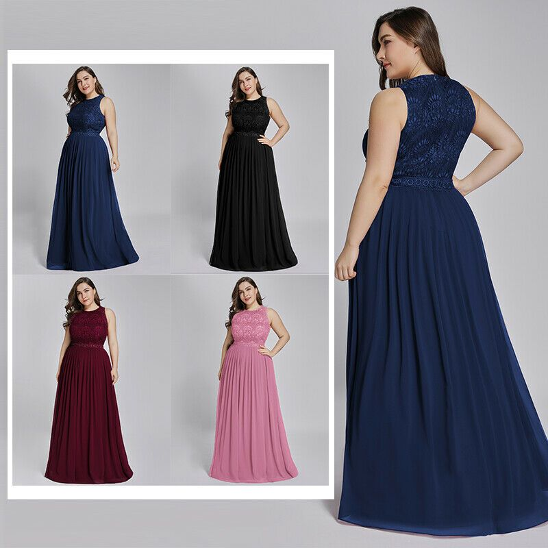 Ever-Pretty Plus Size US Long Mermaid Evening Dress Mother Of Bride Evening Gown