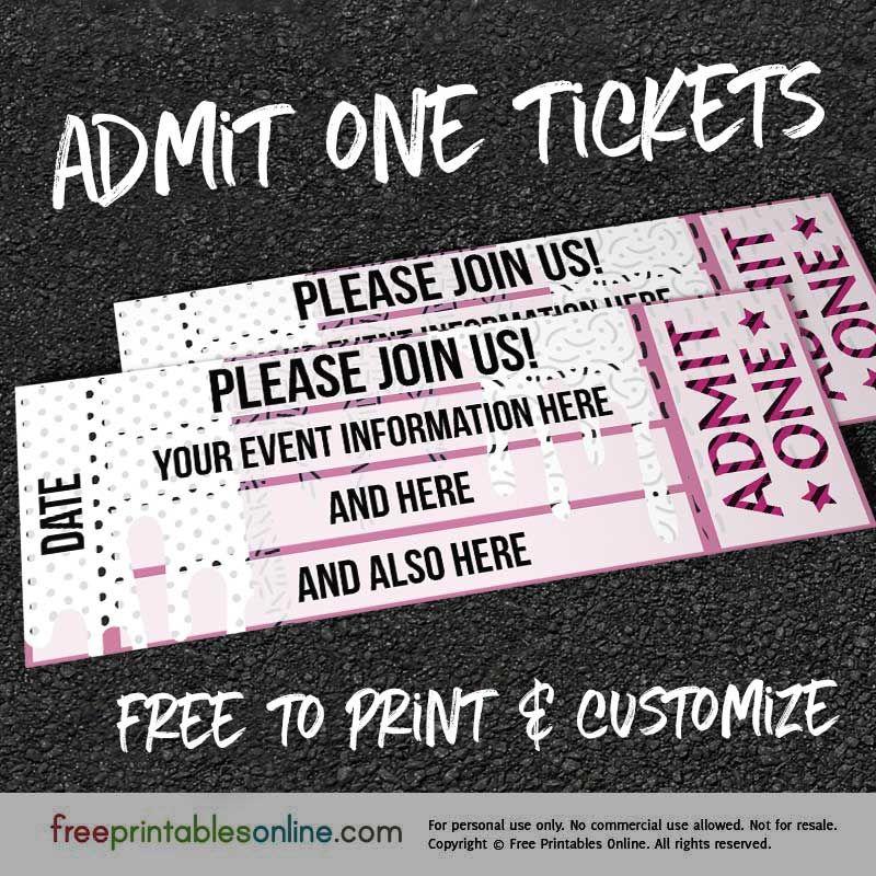 Drip Drop Admit One Ticket Template Free Printables Online Ticket Template Free Printables Ticket Template Free Admit One Ticket