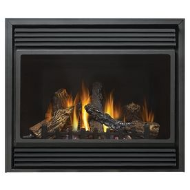 Continental 37 5 In Direct Vent Black Corner Or Wall Mount Natural Gas Fireplace 1 701 L Owes 14 Deep Embled