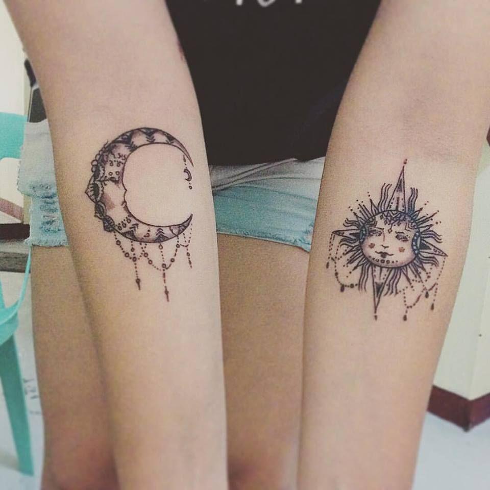 f00878c40 56 Wonderfully Artistic Sun and Moon Tattoo Ideas for Every Taste ...