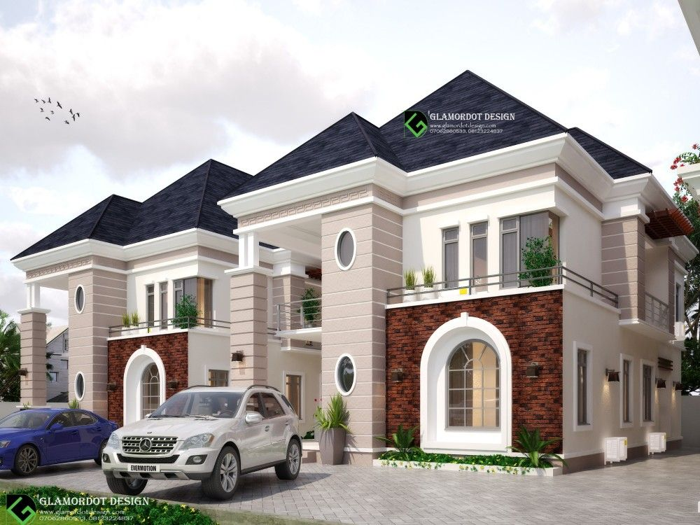 Proposed Development In Abuja Nigeria A Twin 3 Bedroom Duplex And A Block Of Flats Modern Style House Plans Classic House Exterior Classic House Design