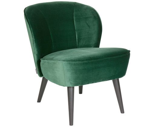 Fluwelen fauteuil sara decoration furniture
