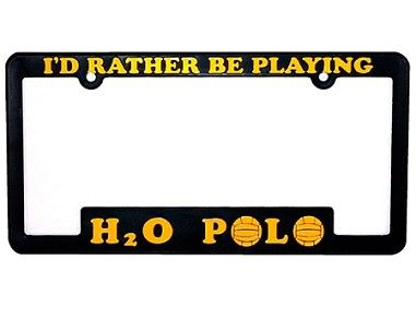 License Plate Frame Water Polo Players Water Polo