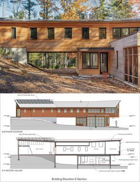 This contemporary wood house has  bridge that connects the garage to hallway in upper level of home architecture also long reach retreat by kaplan thomspon architects ideas for rh pinterest