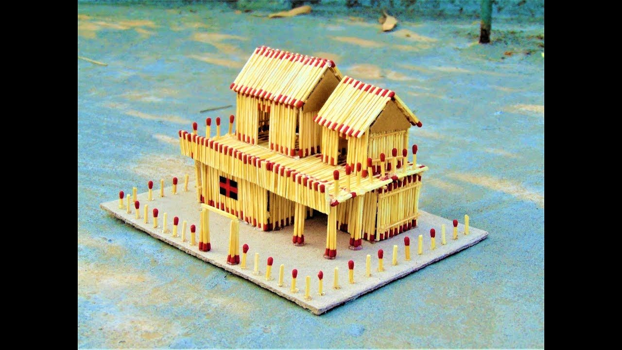 How to Make a Match House at Home and Burn it Down match