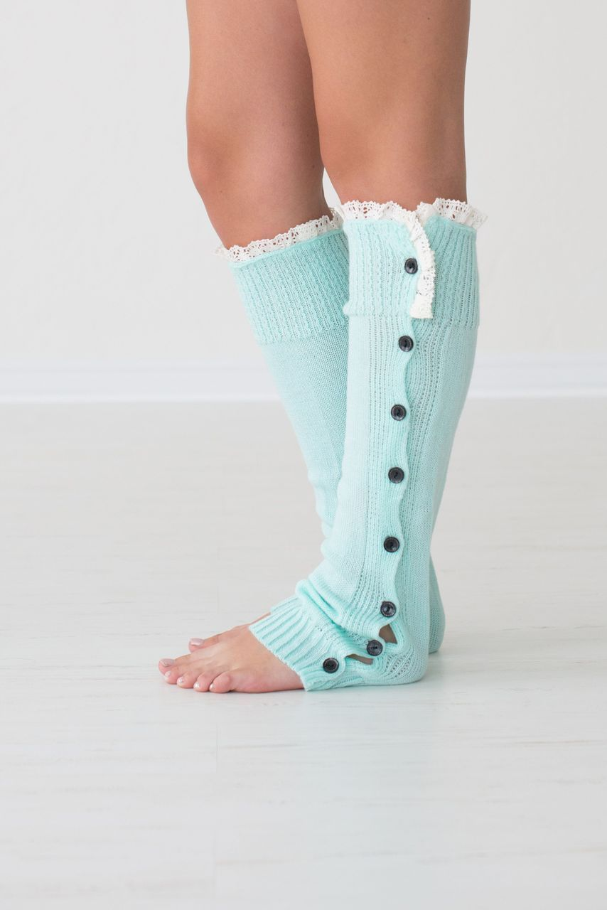 Super soft and stylish button-down leg warmers to complete your cool ...