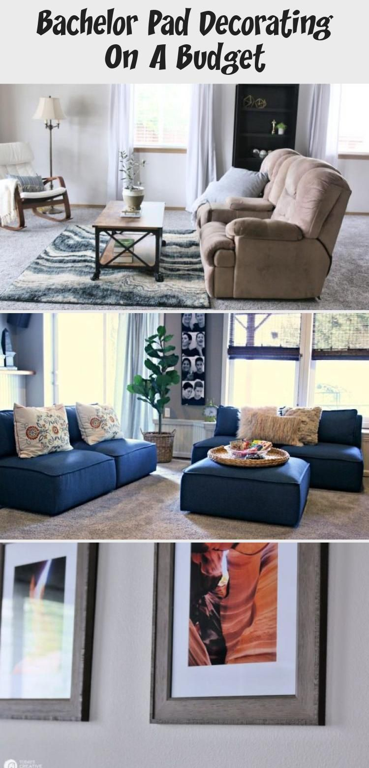 room makeover men Room Makeover Before and After | Bachelor Pad Decorating on A Budget #HomeDecorDIYRecycle #recycled furniture before and after