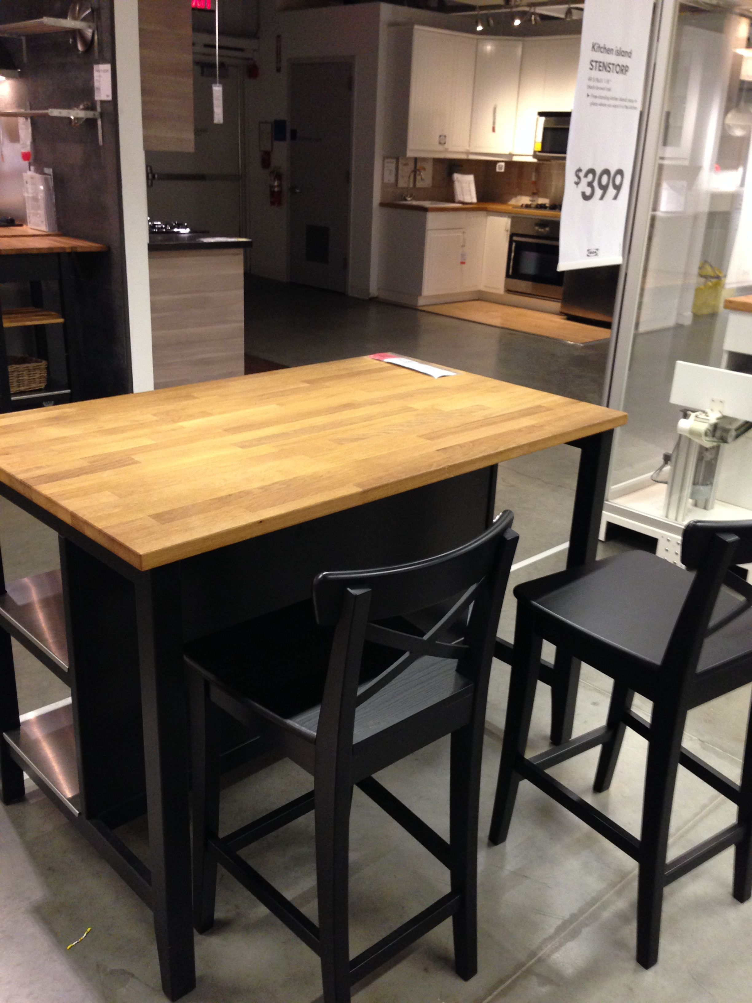Incroyable Ikea Stenstorp Kitchen Island Dark Oak   Back Kitchen Island I Like This  Because You Can Have Seating In The Kitchen, You Have The Space For It. ...