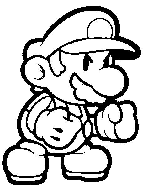 Coloring Page Super Mario 1 Super Mario Coloring Pages, Mario Coloring  Pages, Coloring Pages