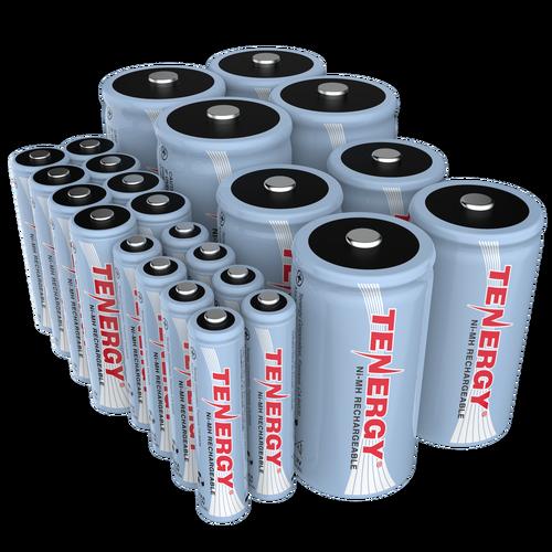 Combo Tenergy Nimh Rechargeable Batteries 8aa 8aaa 4c 4d Nimh Rechargeable Batteries Alkaline Battery