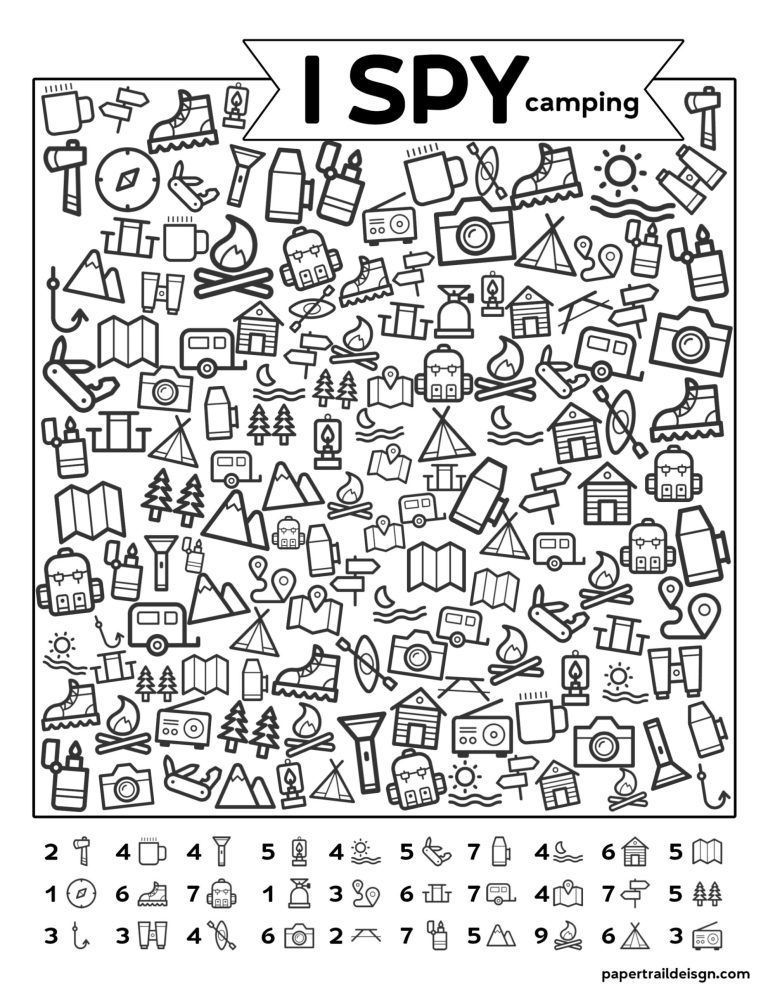 Photo of Free Printable I Spy Camping Kids Activity – Paper Trail Design – Free Printabl… – Welcome!