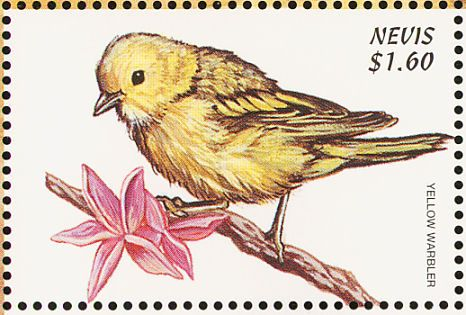 American Yellow Warbler stamps - mainly images - gallery format