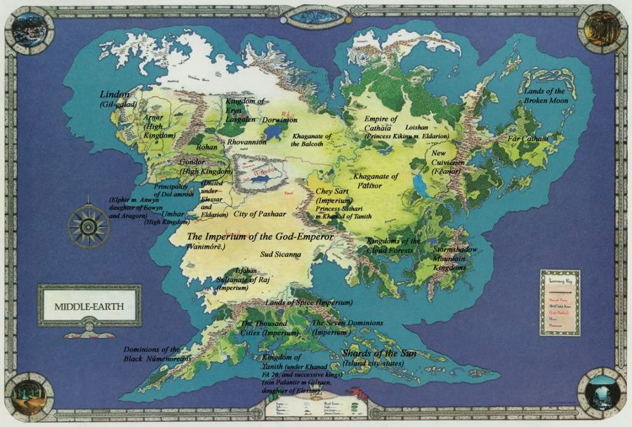 Middle earth world map by spicedwinefanfic.deviantart.on