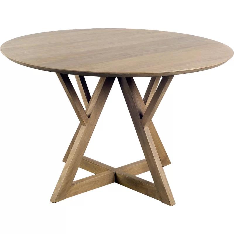 Badgett 48 Solid Wood Pedestal Dining Table Wood Dining Table Solid Wood Dining Table Dining Table