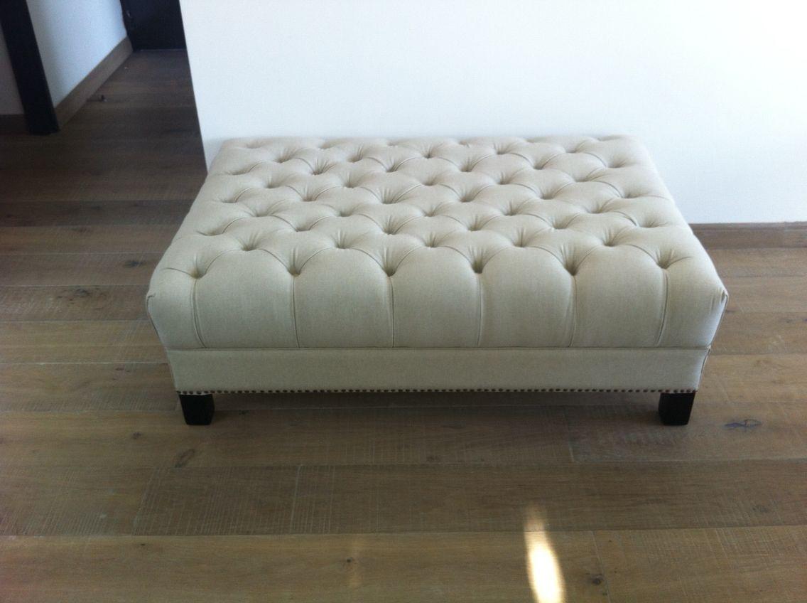 Puf o mesa de centro tapizada capitone | Mesa/tapizada | Pinterest ...