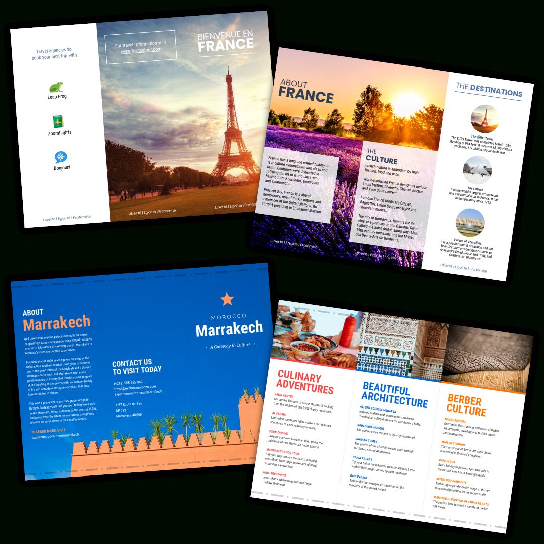 The Amusing Travel Brochure Templates Make A Travel