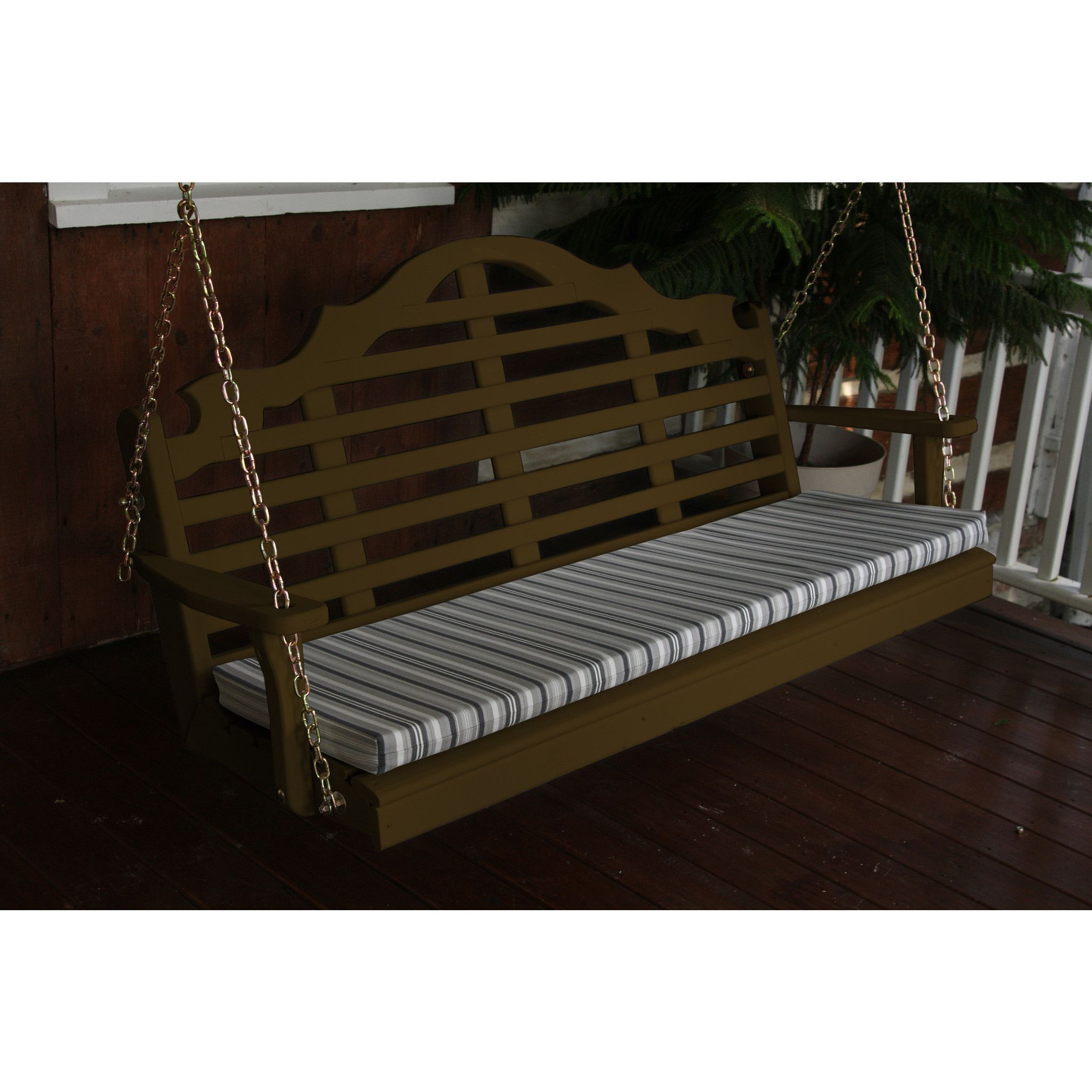 A L Furniture Marlboro Yellow Pine 5ft Porch Swing Ships Free In 5 7 Business Days Porch Swing Porch Swing Bed Outdoor Bed Swing