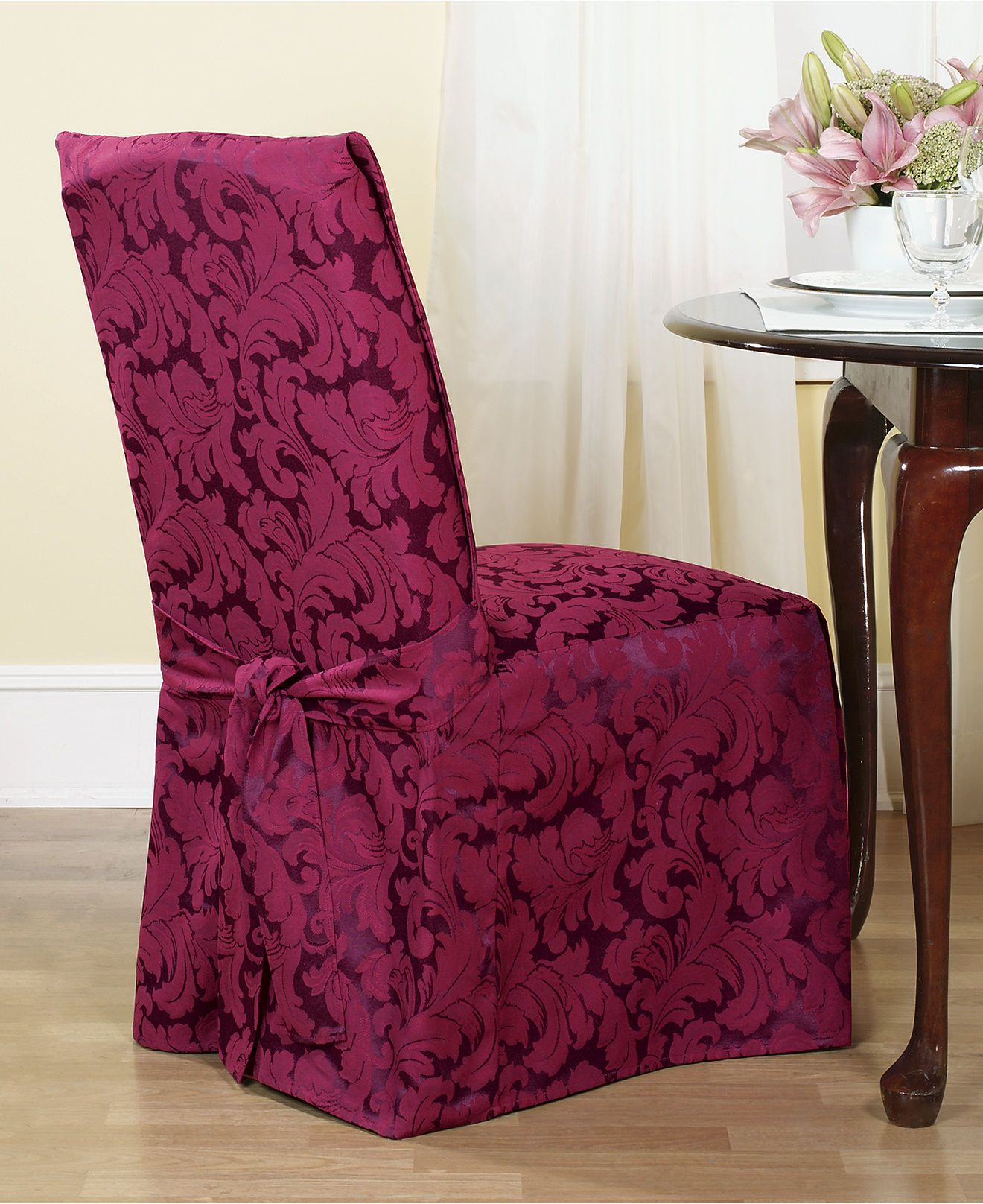 Dining Room Chair Cushion Covers: Scroll Dining Room Chair Slipcover