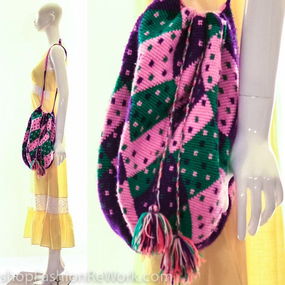 Mochila Purse Crossbody Handbag Wayuu Mochila by fashionrework