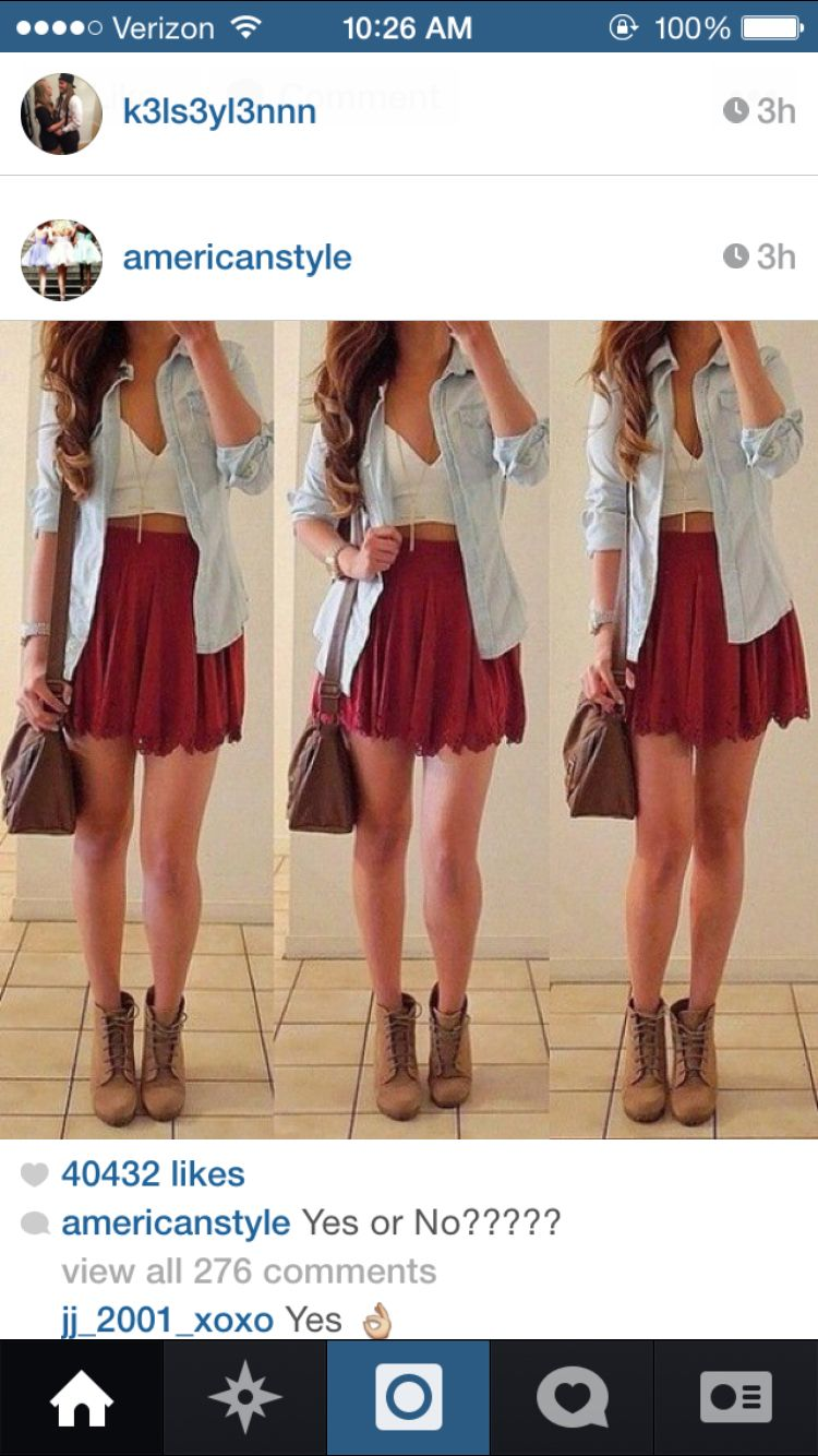 Love this outfit for early fall