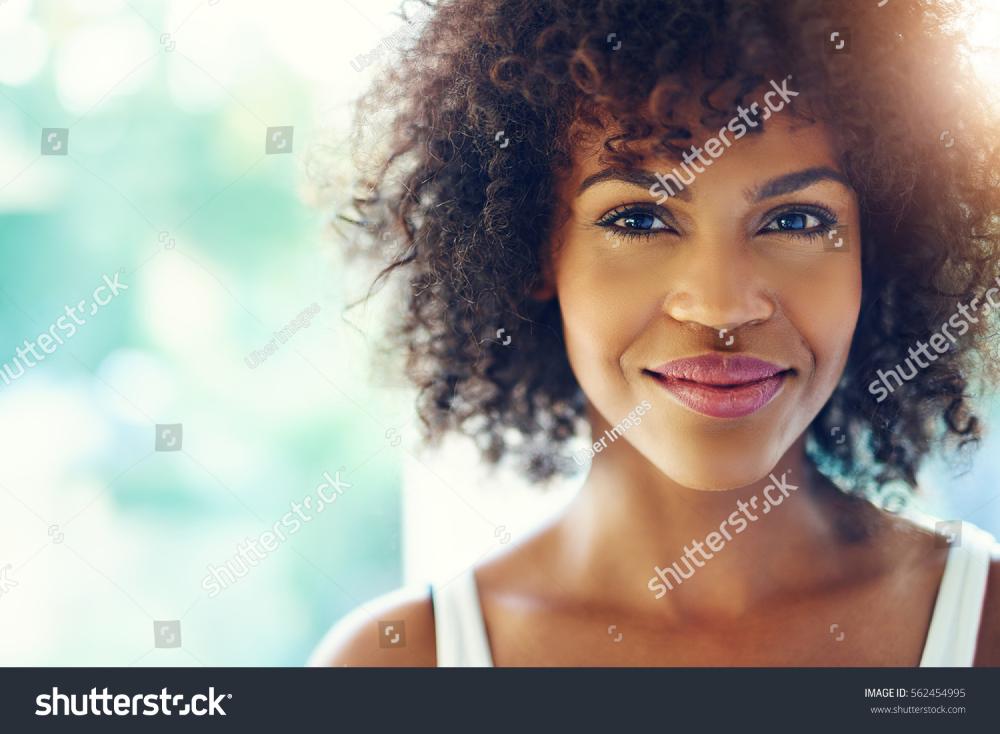 Stock Option Young Black Portrait Black Women