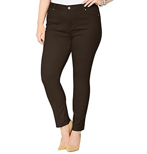ed3c81a6a4336 AVENUE Women's Butter Denim Legging Jean (Brown), 16 Brown | Jeans ...