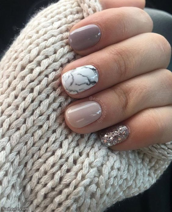 Photo of Here are some nice heart nail polish styles for short nails. Heart for …