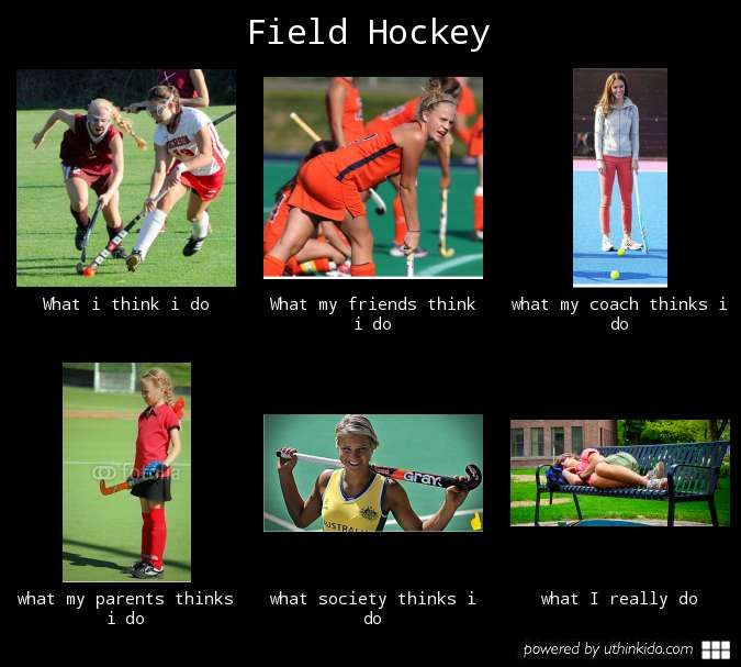 Funny Field Hockey Quotes: What People Think I Do, What I Really Do