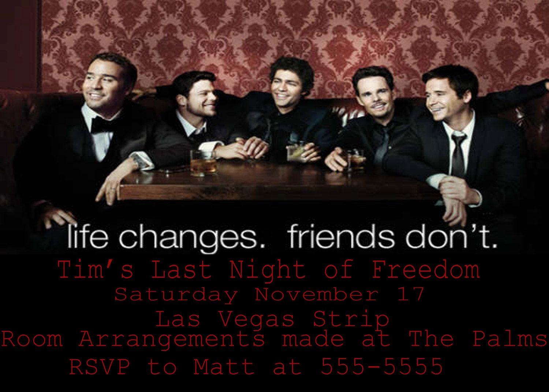 Entourage Bachelor Party Invite. $10.00, via Etsy. | bachelorette ...