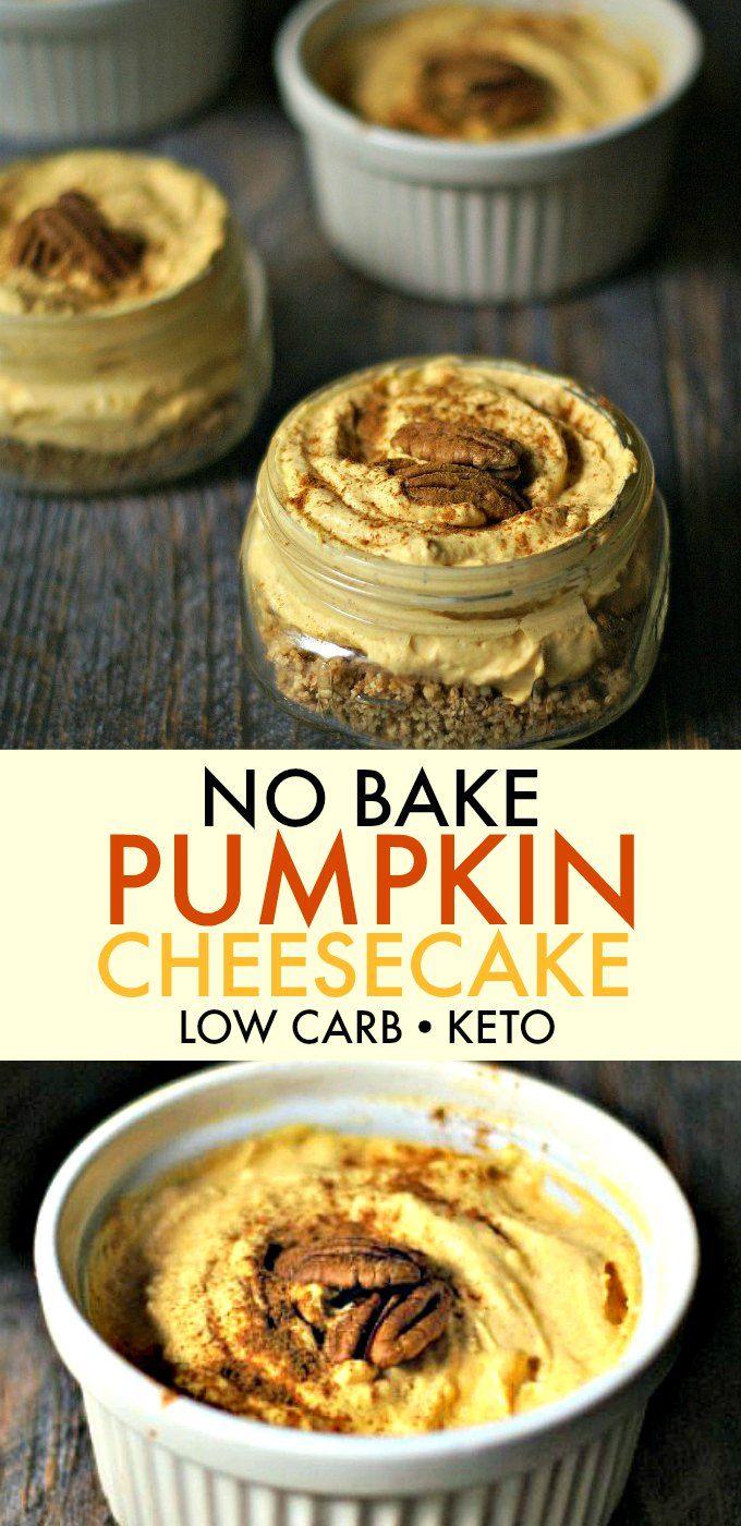 No Bake Pumpkin Cheesecake (low carb)