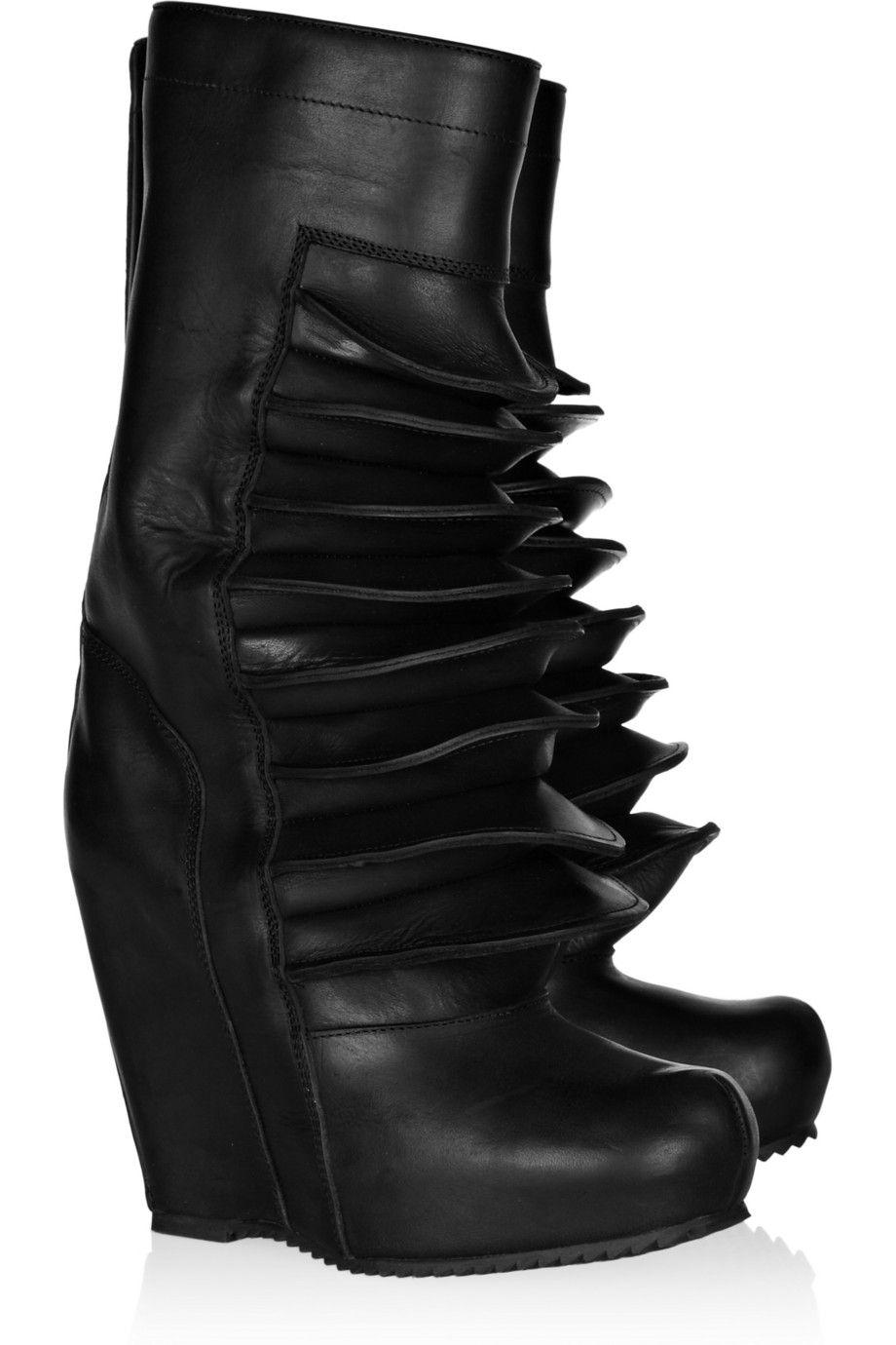 Rick Owens Brancusi Wedge Boots