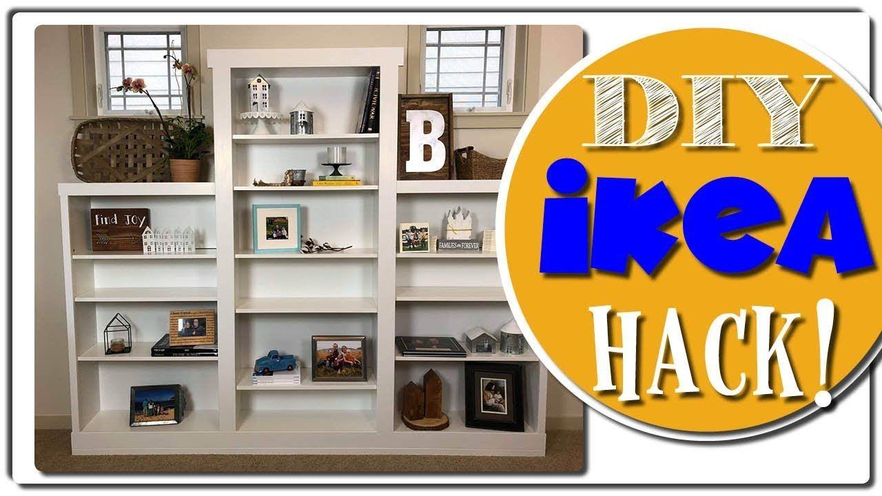 foto de IKEA Hack - Custom Built In - Billy Bookcase - YouTube | Bookcase ...