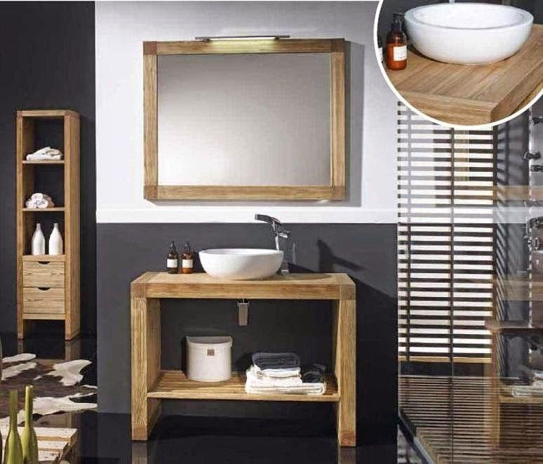 Modelos de muebles r sticos para el cuarto de ba o ba os for Muebles rusticos de madera para banos