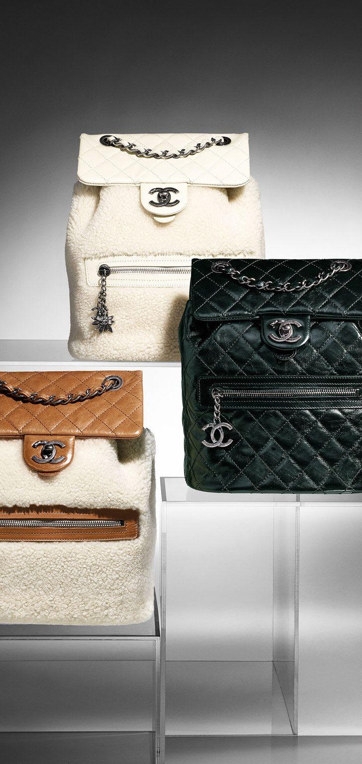 d49458031 Mochila em couro - CHANEL | Fashionism | Pinterest | Mochila em ...