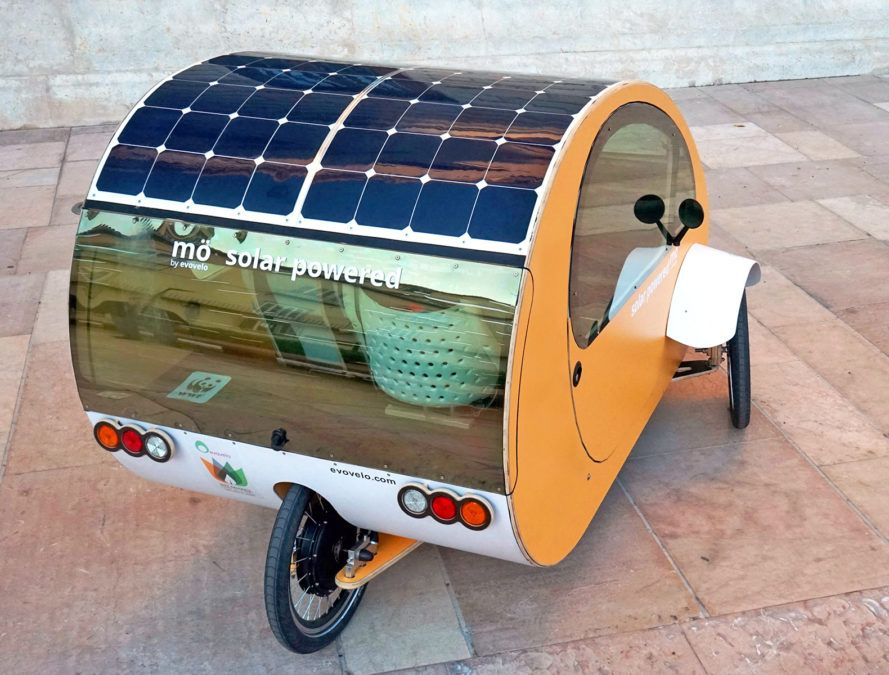 Evovelo unveils cute little solar car you can pedal like a