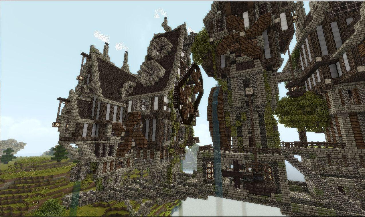Steampunk Minecraft Bridge