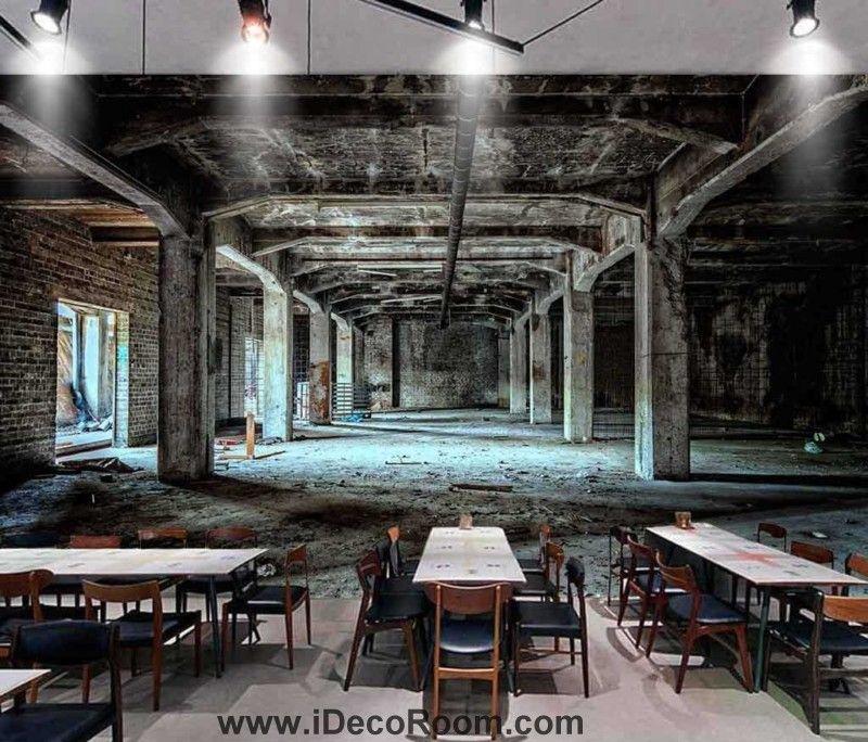 Photograph Abandoned Building Art Wall Murals Wallpaper