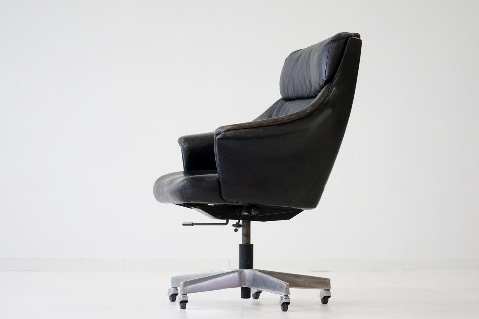 Stoll Giroflex Executive Office Chair Chef Buro Schreibtisch Stuhl Sessel 1960er Stuhle Mit Hoher Ruckenlehne Stuhle Burostuhl
