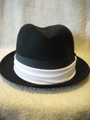 ada0e07bfc96c Vintage Dobbs Men's Derby Bowler Style Black Hat Original Fifth Ave ...