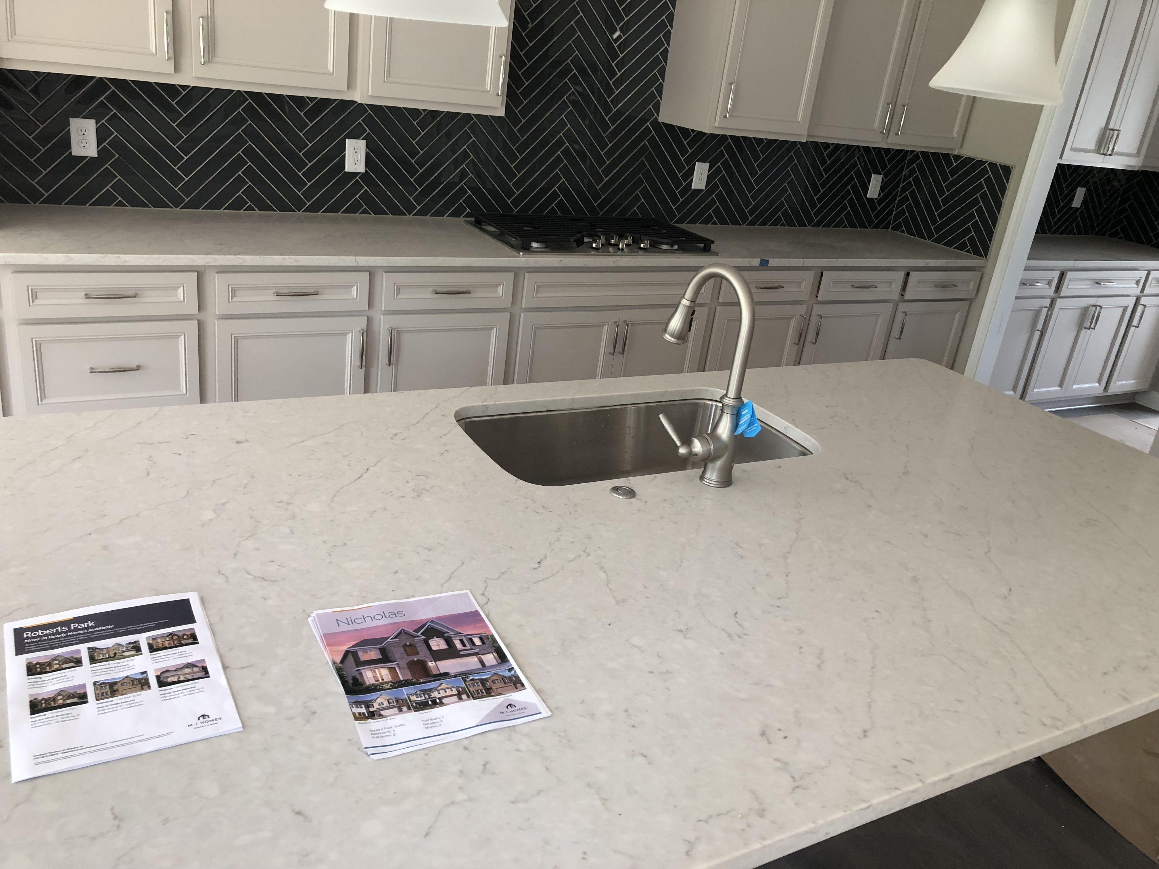 Carrara Caldia Quartz Updated Kitchen Kitchen Redo Countertop Backsplash