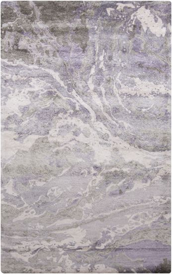 Made from bamboo silk, the Gemini Collection has the same luster and softness of silk. Inspired by the art of marbling, these rugs have an elegant and organic style. (GMN-4027)