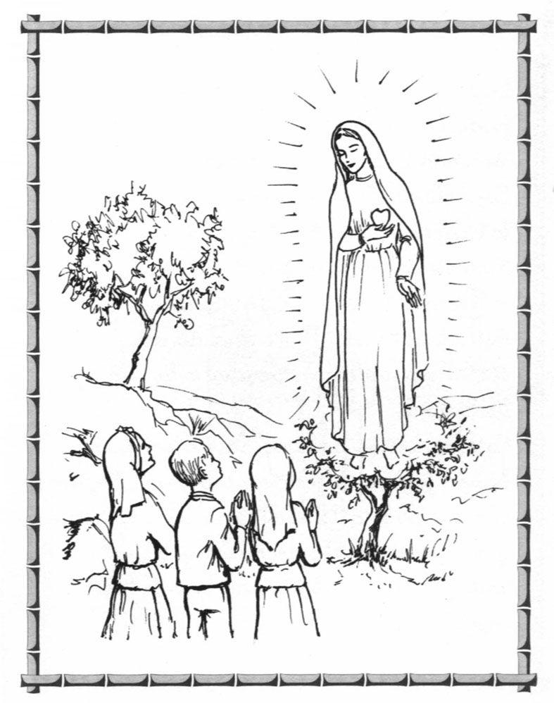 Fatima para colorear (10) | Santos | Colores, Virgencita, Dibujos ...