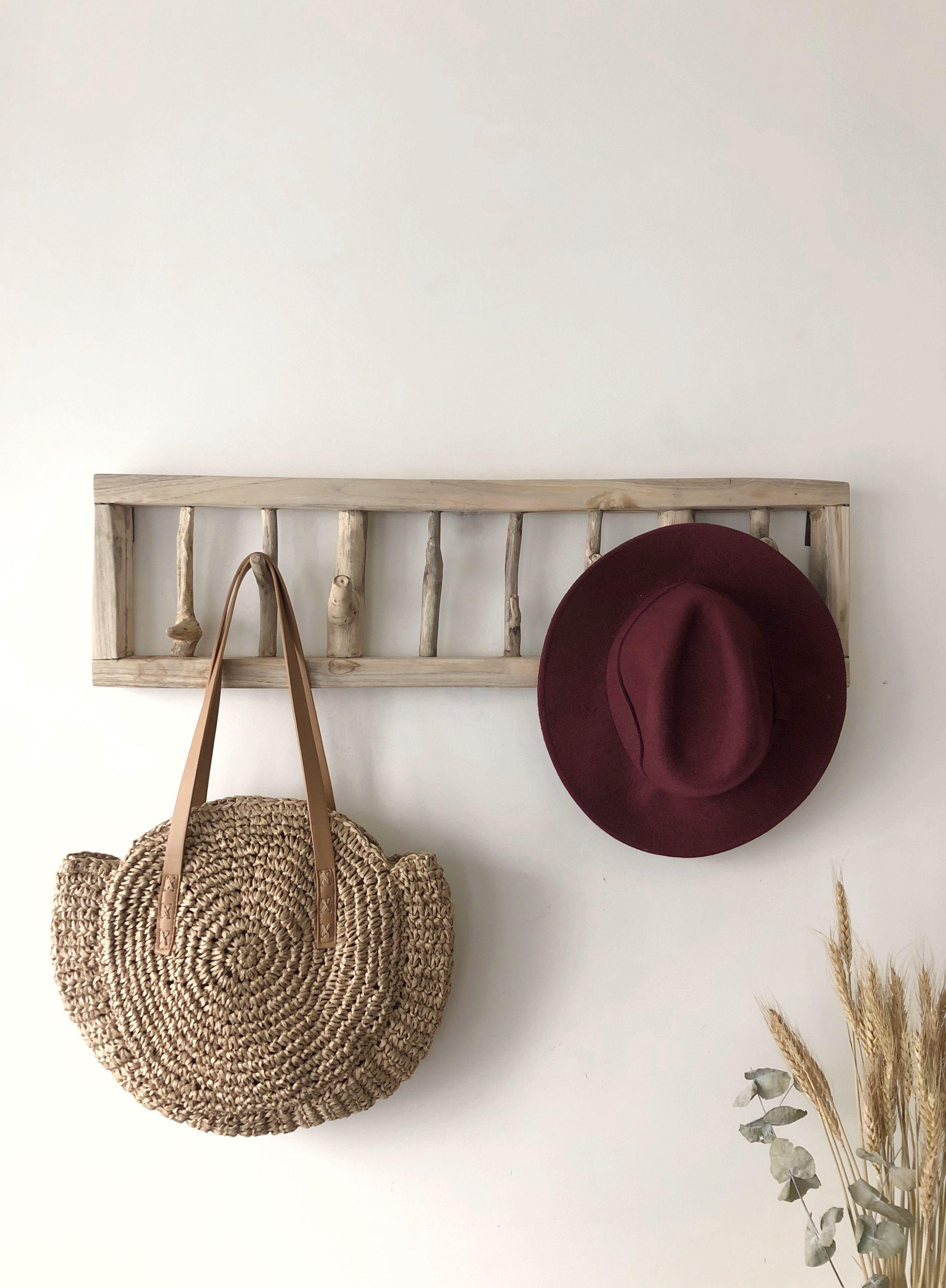 Wooden Coat Rack Floating Rustic Hook Wall Mounted Coat Etsy Wooden Coat Rack Wall Mounted Coat Rack Hat Wall